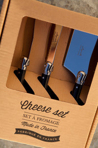 Laguiole Black Mini Cheese Set