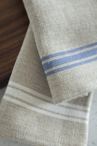 "Thieffry Blue Monogramme Linen Tablecloth (68"" x 110"")"