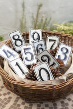 "Load image into Gallery viewer, Orban & Sons Enamel Number ""9"" Sign (Set of 3)"