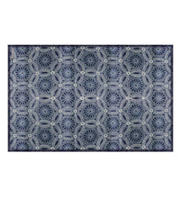 Load image into Gallery viewer, Beija Flor Royal Indigo Chrysanthemum Placemat (Set of 4)