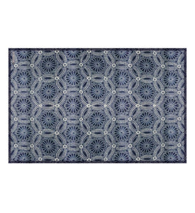 Beija Flor Royal Indigo Chrysanthemum Placemat (Set of 4)