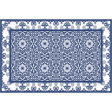 Load image into Gallery viewer, Beija Flor Blue Armenian Placemat (Set of 4)
