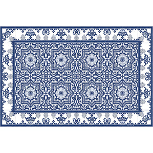 Beija Flor Blue Armenian Placemat (Set of 4)