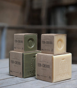 Fer à Cheval Genuine Marseille Soap Unscented 100g Cube (Set of 5)