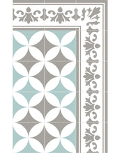 Load image into Gallery viewer, Beija Flor Sofi Light Grey & Turquoise Placemat (Set of 4)