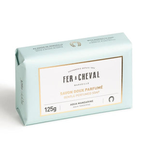 Fer à Cheval Gentle Perfumed Soap Bar - Aqua Tangerine 125g (Set of 4)