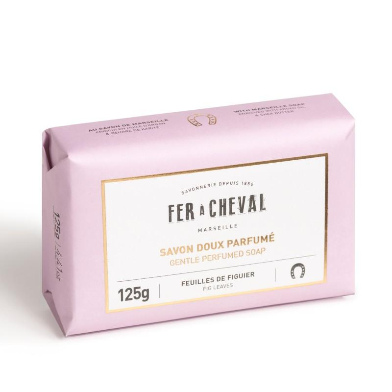 Fer à Cheval Gentle Perfumed Soap Bar - Fig Leaves 125g (Set of 4)