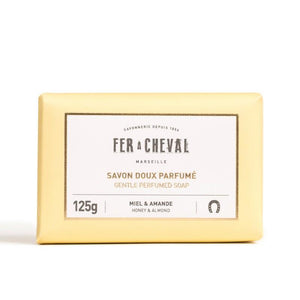 Fer à Cheval Gentle Perfumed Soap Bar - Honey & Almond 125g (Set of 4)