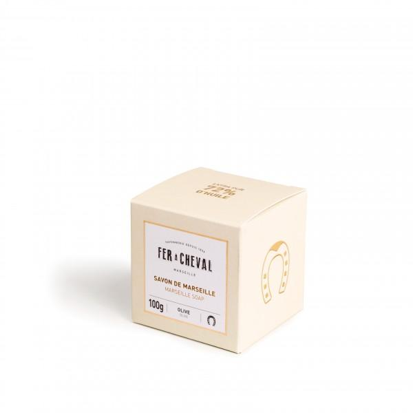 Fer à Cheval Premium Marseille Soap Olive Oil 100g Cube (Set of 3)
