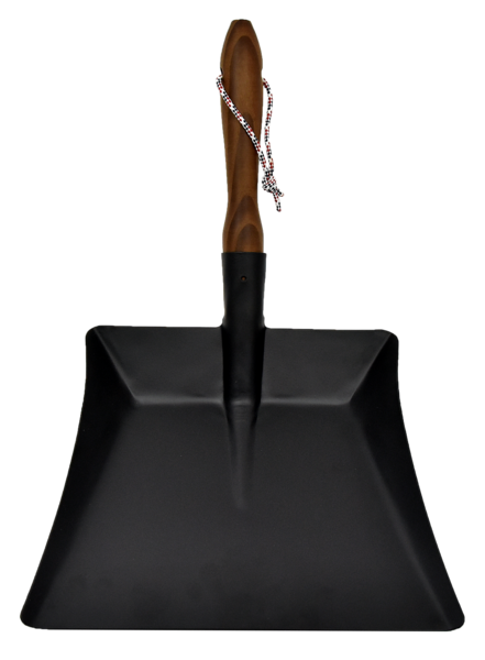 Andrée Jardin Heritage Black Dustpan with Ash Wood Handle