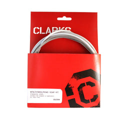 Clarks Universal S/s Front & Rear Gear Cable Kit W/sp4 White Outer Casing