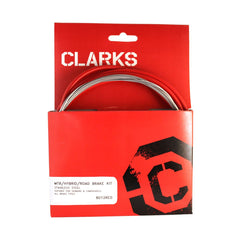 Clarks Universal S/s Front & Rear Brake Cable Kit W/p2 Red Outer Casing