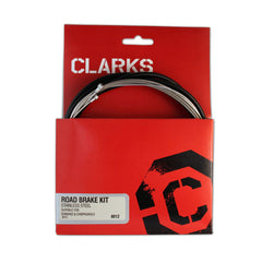 Clarks Universal S/s Front & Rear Brake Cable Kit W/p2 Black Outer Casing