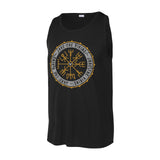 Jake the Viking Black Norse Compass Tank