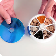 Load image into Gallery viewer, WeeklySplitter Rotating Pill Box - Organize 7 Days of Pills Easily and Effectively