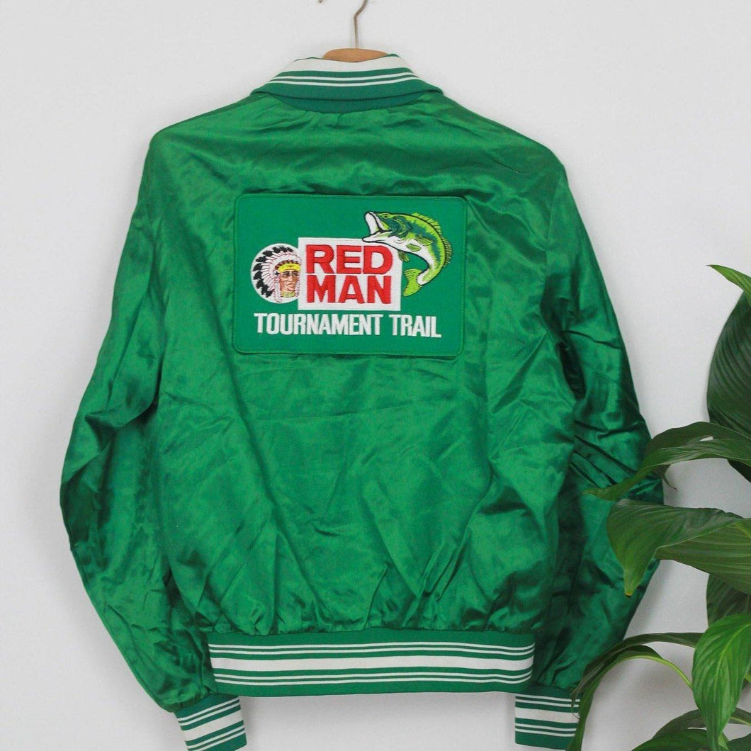 RED MAN embroidered College / Bomber Jacke