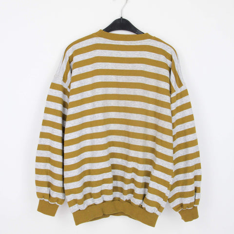 1980s GRAPHIC STRIPED SWEATER | M