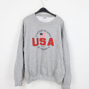 USA PRINTED VINTAGE SWEATER | XL - secondvintage