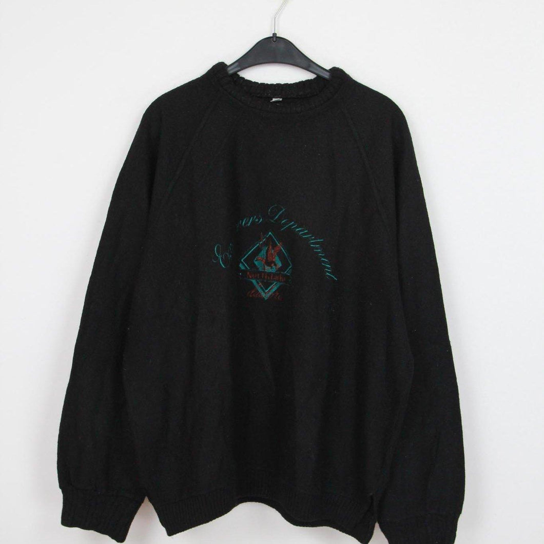 EMBROIDERED VINTAGE SWEATER | XL