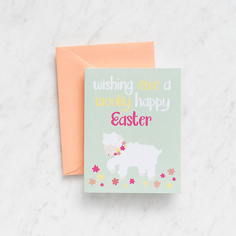 Happy Easter Lamb Card