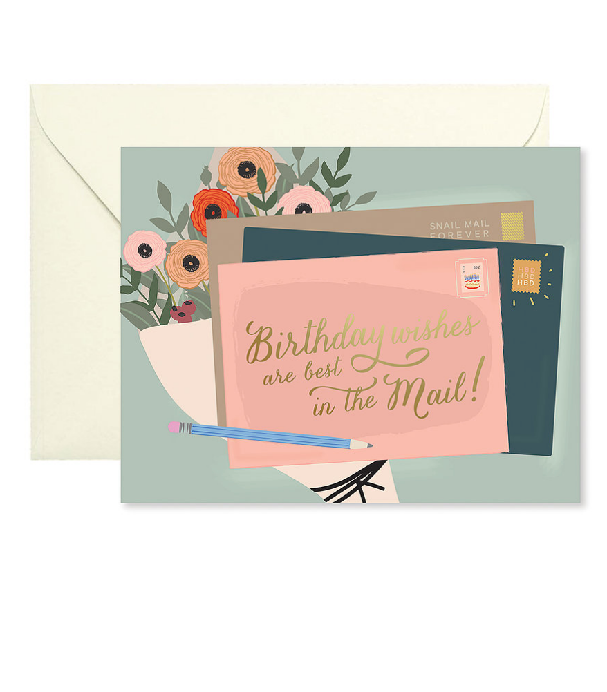 Birthday Wishes in Mail Greeting Card