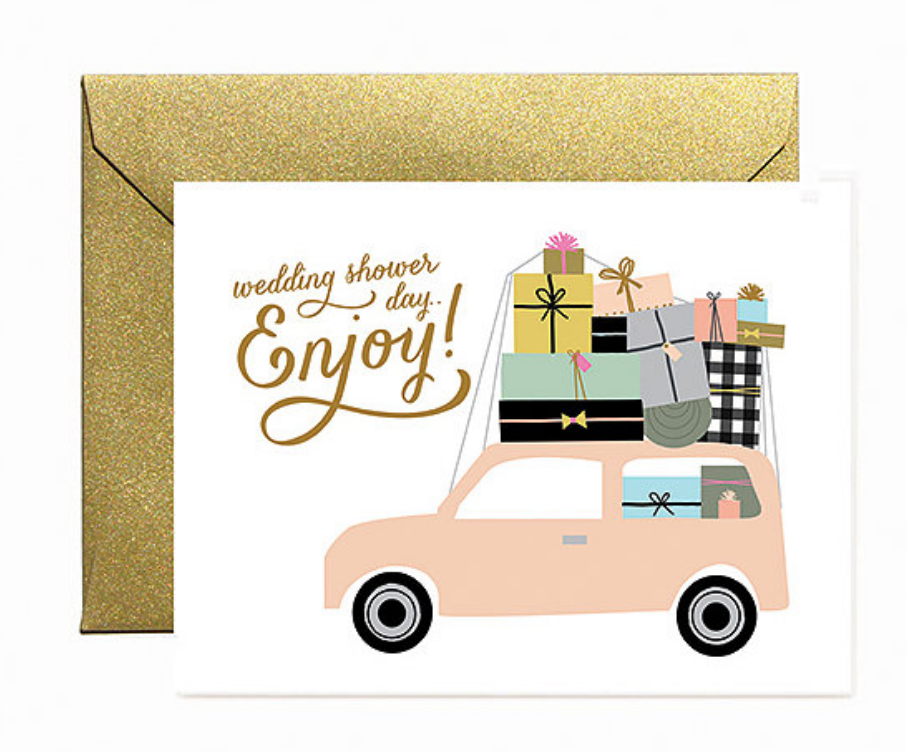Bridal Shower Car Greeting Card
