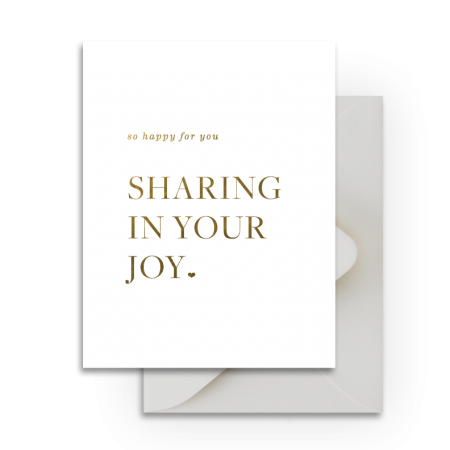 Sharing In Your Joy