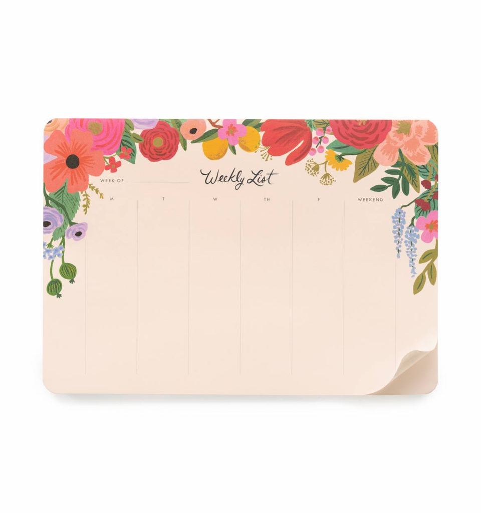 Garden Party Weekly Desk Pad