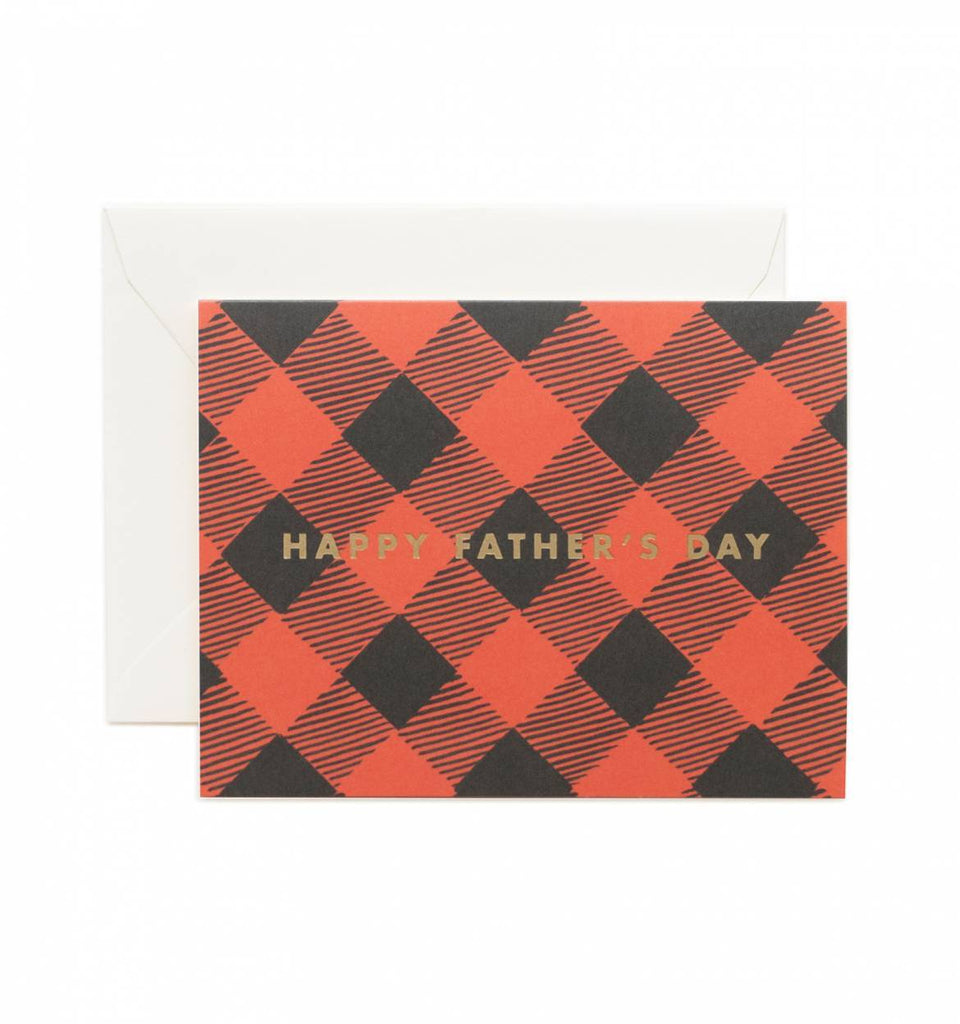 Happy Father's Day Plaid Foil Card