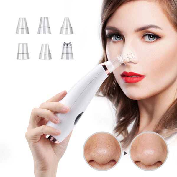 Blackhead Remover Vacuum Suction Facial Pore Cleaner Rechargeable Electric Acne Kit