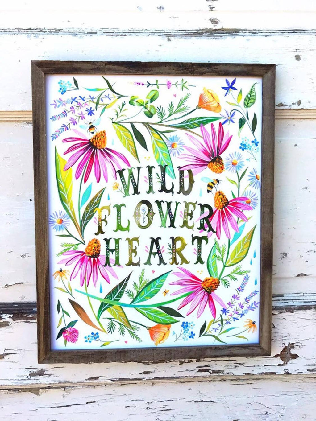 Wildflower Heart Print