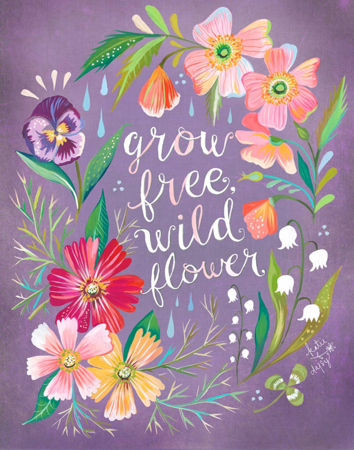 Grow Free Wildflower Print