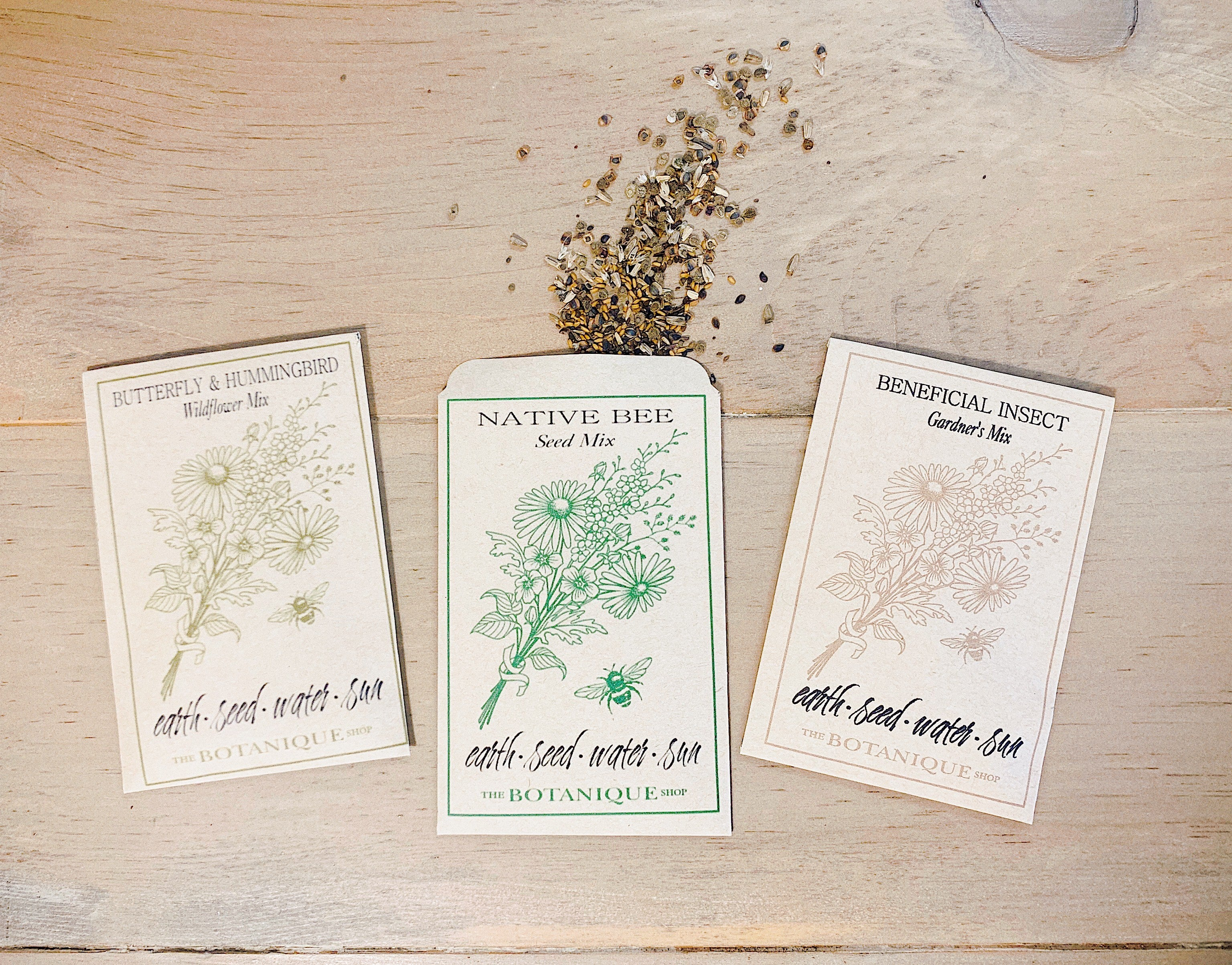 Native Bee Wildflower Seed Packet