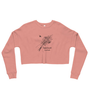 Spread Loved Cropped Crew-Neck Sweatshirt