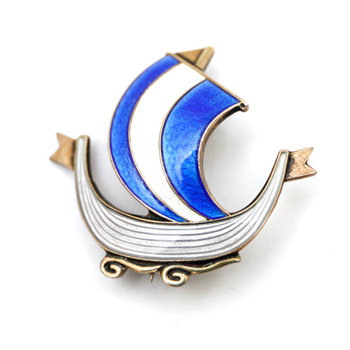 Sterling Norway Sailboat Brooch
