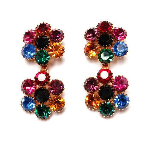 Multi Colour Drop Earrings