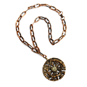 P. Sarpaneva Bronze Pendant Necklace