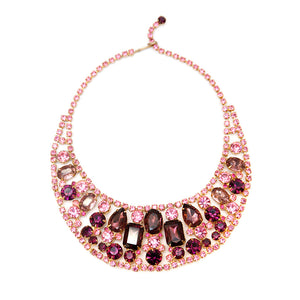 Juliana Pink and Purple Collar Necklace