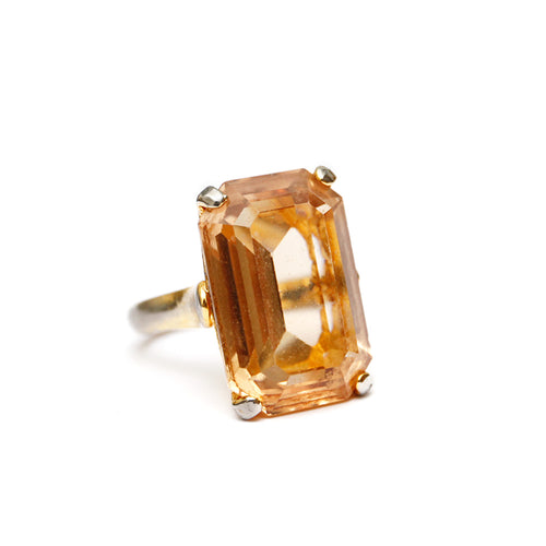Pale Amber Cocktail Ring