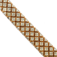 Load image into Gallery viewer, Jomaz Quilted Diamanté Bracelet