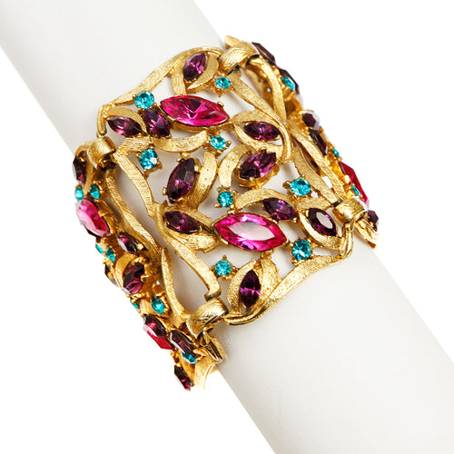 Thelma Deutsch Multi-Colored Link Bracelet