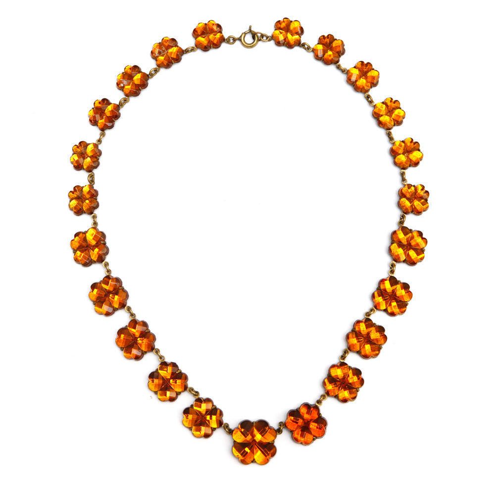 Amber Clover Chicklet Necklace