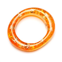 Load image into Gallery viewer, 1980's Chanel Orange Lucite Bangle