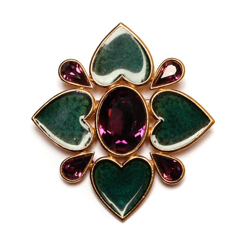 Yves Saint Laurent  Flower Pin