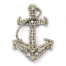 Load image into Gallery viewer, Diamanté Anchor Brooch