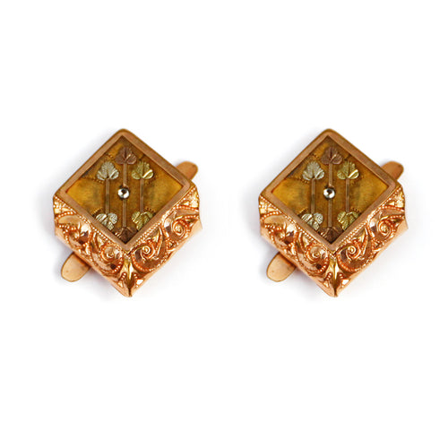 Victorian Copper and Gold Cufflinks