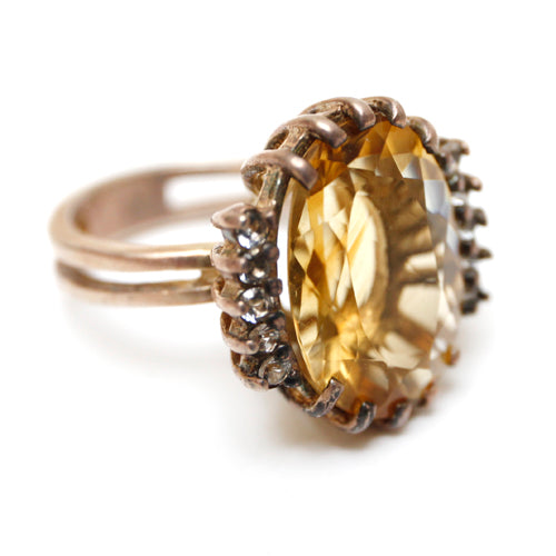 Sterling Jonquil Cocktail Ring