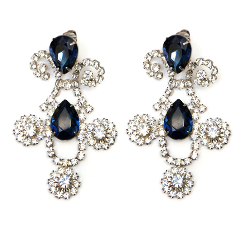 KJL Blue and Diamanté Earrings