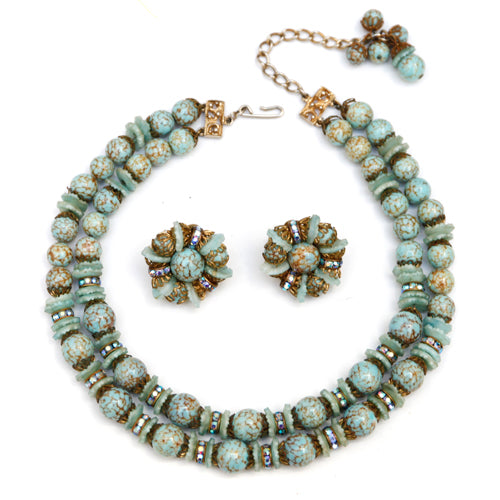 Hobe Turquoise Glass Bead Set