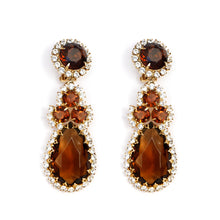 Load image into Gallery viewer, Amber Drop Earrings